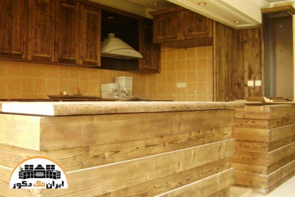 کابینت آشپزخانه تمام چوب