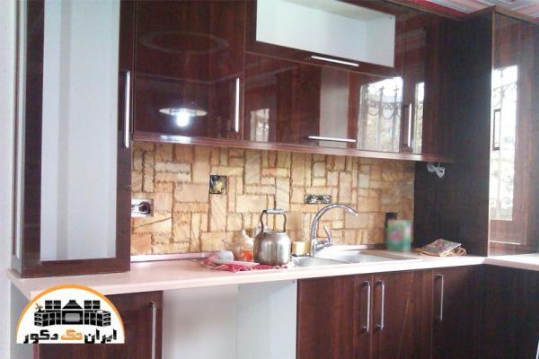 کابینت آشپزخانه کوچک های گلاس (نمونه کار)