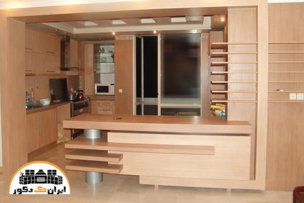 آشپزخانه زیبا با کابینت های ام دی اف mdf